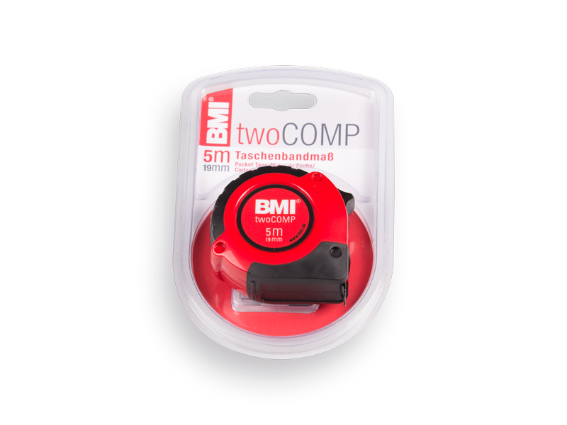 BMI Two Comp Rolbandmaat 5 meter, bandbreedte 19 mm.